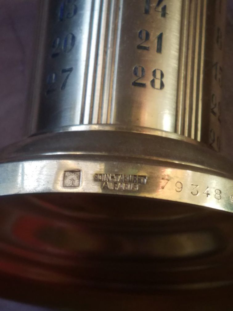 Extremely rare Boin-Taburet A Paris perpetual weekly calender/ink well