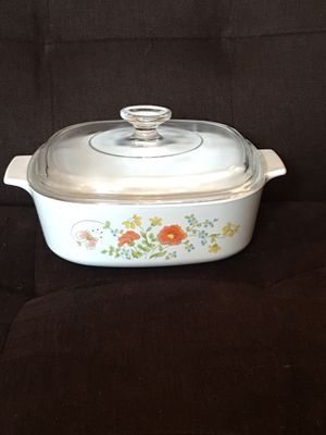 2-qt CorningWare Casserole Dish w/ Pyrex Glass Lid—Wildflower Pattern for Sale in Vienna, VA