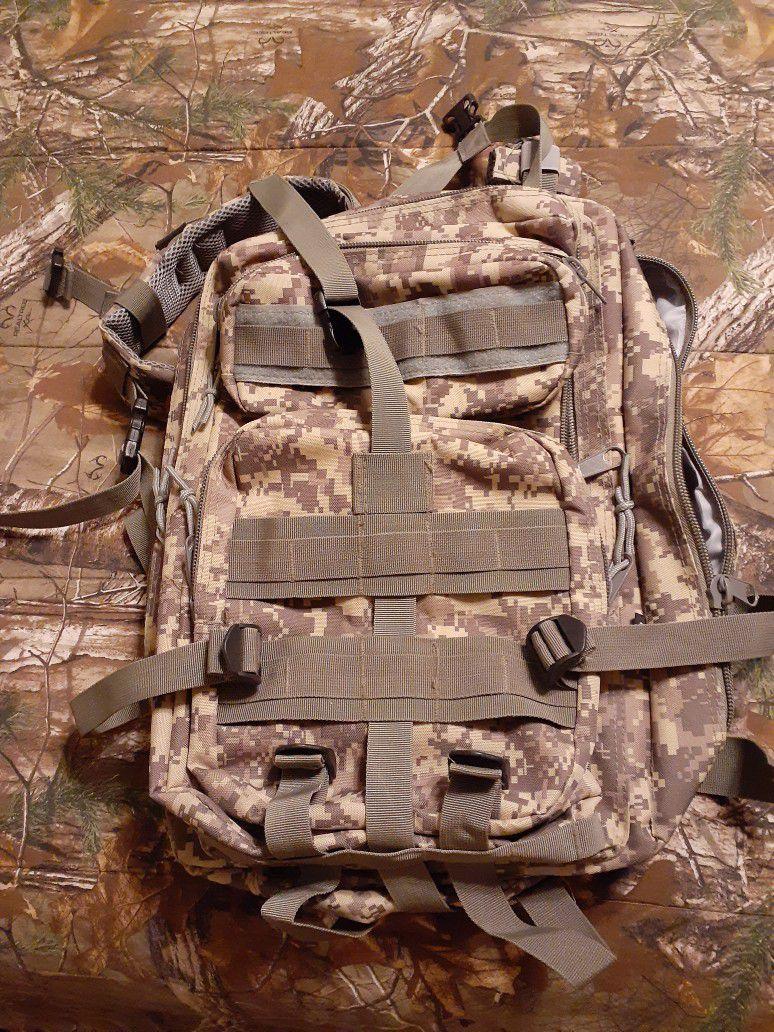 Camo Backpack/Book Bag