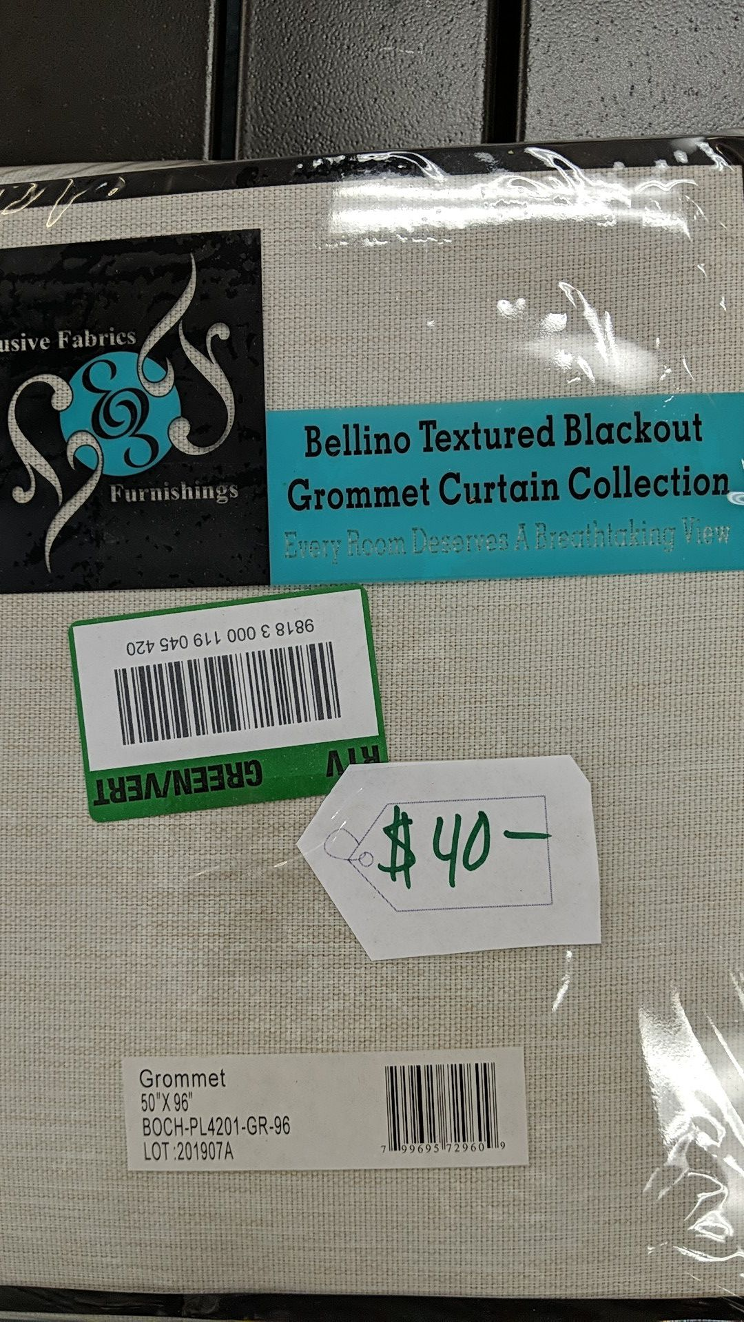 Exclusive fabrics textured blackout garment curtains