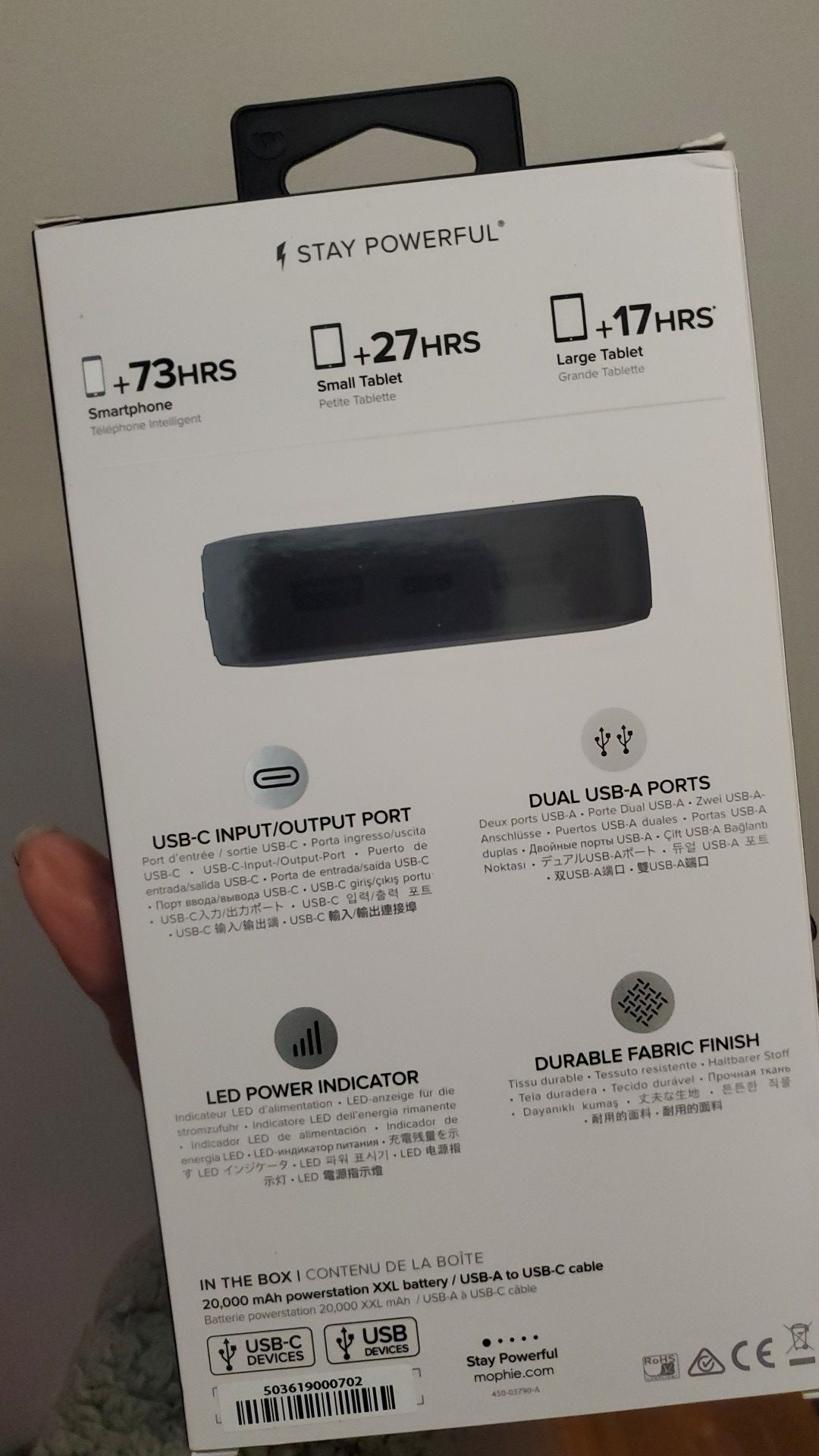 MOPHIE XXL PORTABLE CHARGER