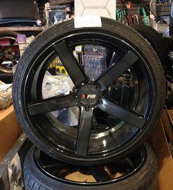 F1R 20x9.5 5x114.3 (4.5) low offset wheels tires 245-35-20 Road Hugger GT Ultra Thumbnail
