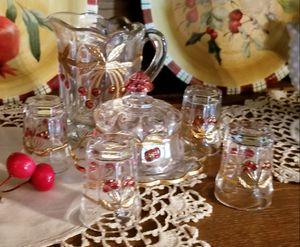 Fenton glass set (cranberry) for Sale in Manassas, VA