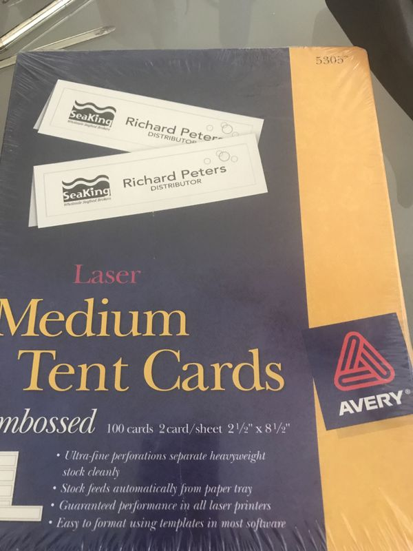 Avery Medium Tent Cards Laser Ink Jet Compatible For Sale In Conyers Ga Offerup