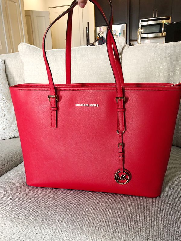 e289ba630f91 Red Michael Kors Tote for Sale in McKinney, TX - OfferUp