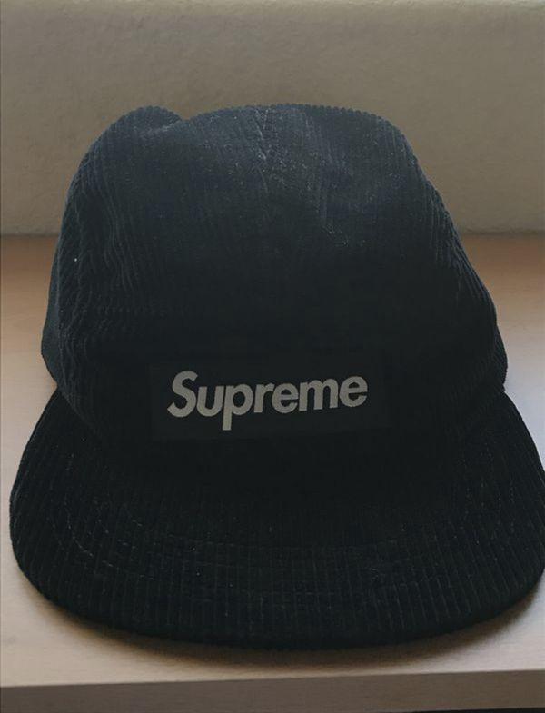 e531093a3bf Supreme Corduroy Camp Cap Hat Black for Sale in Poway