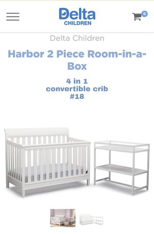 Photo Crib with changing station