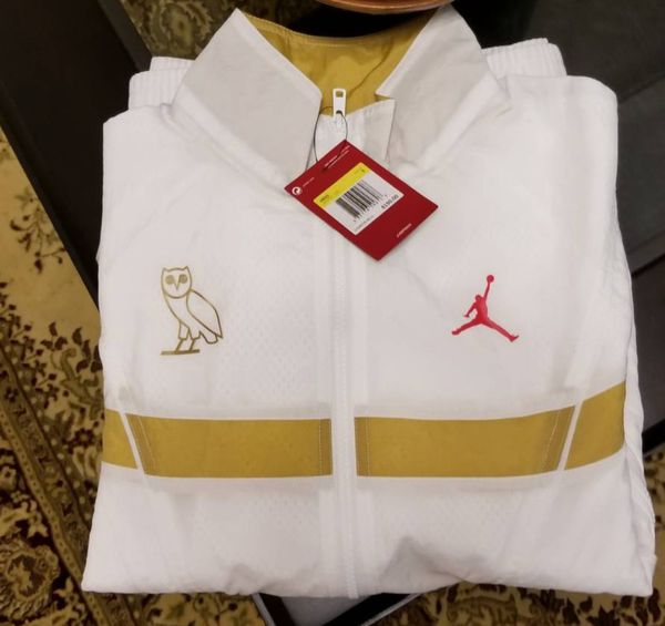 bd55ff87921f1e Nike jordan OVO flight jacket xxl men new white gold drake for Sale ...