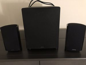 Definitive Technology ProSub 800 Subwoofer and 2 ProMonitor 800 Satellite Speakers for Sale in Alexandria, VA
