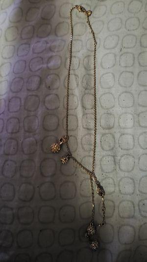 Gold Swarovski crystal necklace & bracelet for Sale in Washington, DC