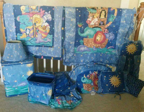 Kidsline Serendipity Noah S Ark Crib Bedding And Decor Set