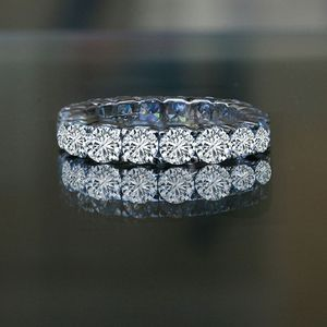 4.5CT(3.75 mm)intensely Radiant Round Diamond Veneer All Around Eternity Band Engagement/Wedding Ring. 635R103 for Sale in San Francisco, CA