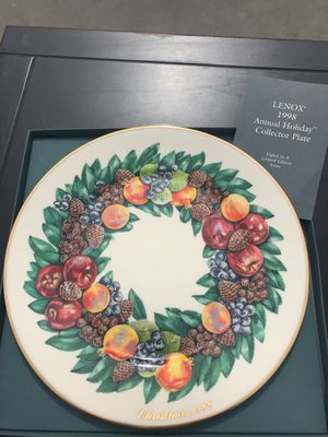 lenox 1988 christmas plate for sale in manteca ca