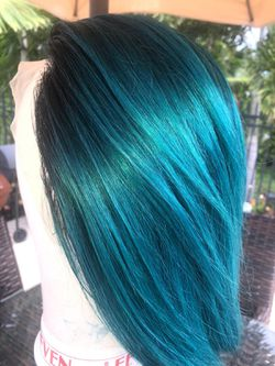 Emerald green lace wig 10 inch Thumbnail