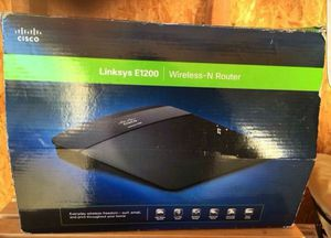 LYNKSYS E1200 WIRELESS - N ROUTER, used for sale  Tulsa, OK