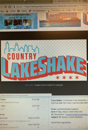 Lake Shake lawn GA 3 day pass w no taxes for Sale in Chicago, IL