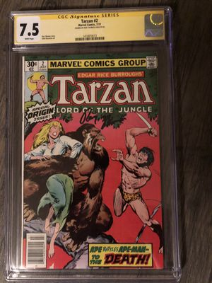 Tarzan Lord of the Jungle signed comic. Signed by Roy Thomas for Sale in Denver, CO
