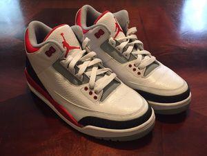 Nike Air Jordan 3 Retro FIRE RED men's size 7.5 for Sale in Houston, TX