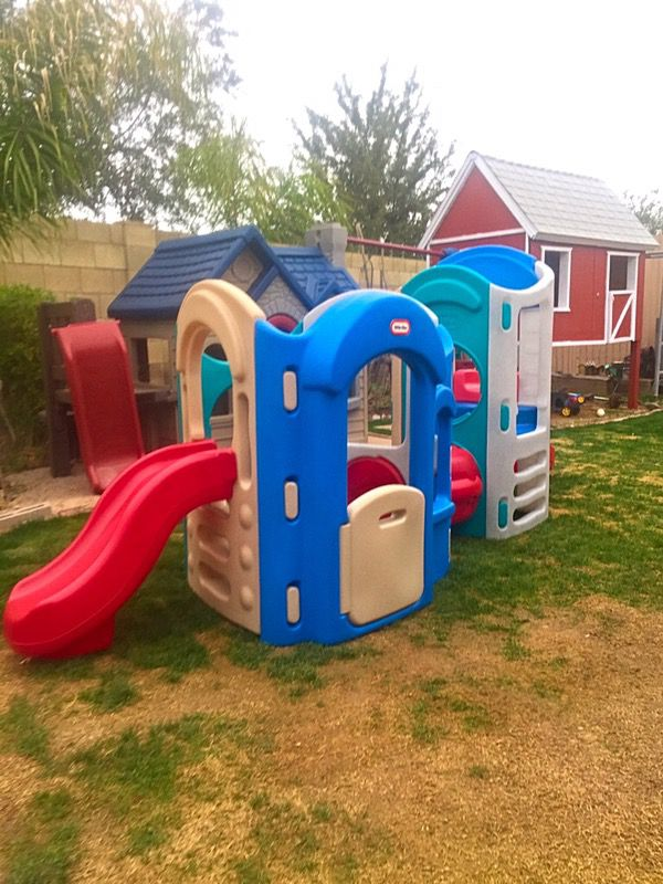 Little Tikes 8 In 1 Playground Climber With 2 Slides