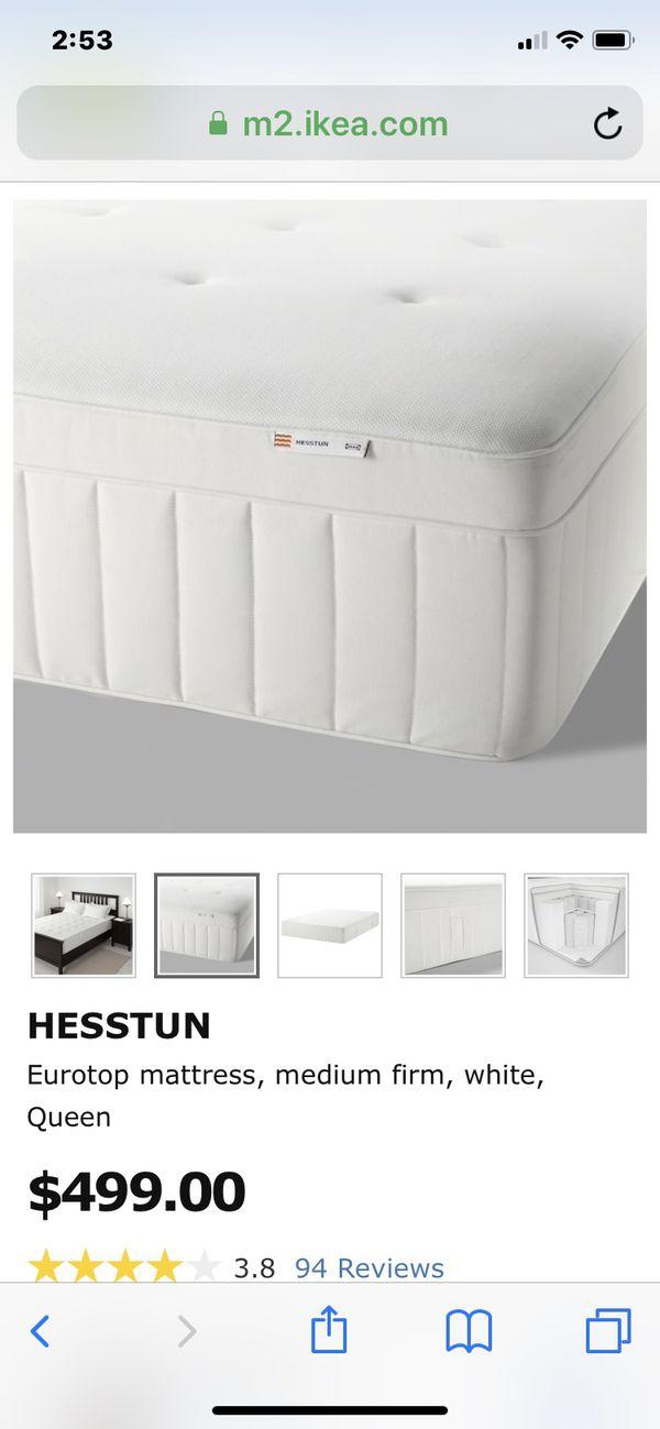 meet 283c8 26290 IKEA HESSTUN MATTRESS QUEEN SIZE for Sale in San Diego, CA - OfferUp