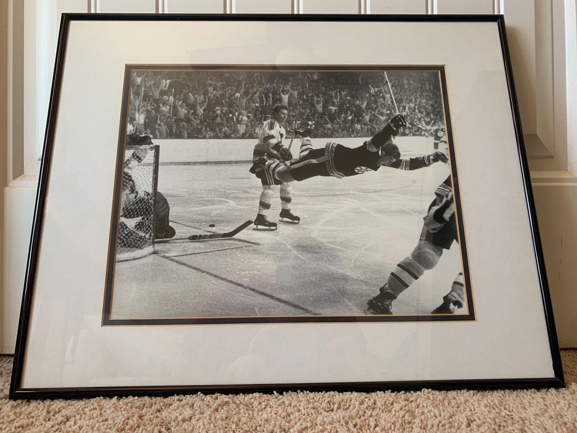 """Bobby Orr """"Flying Goal"""" framed photo"""