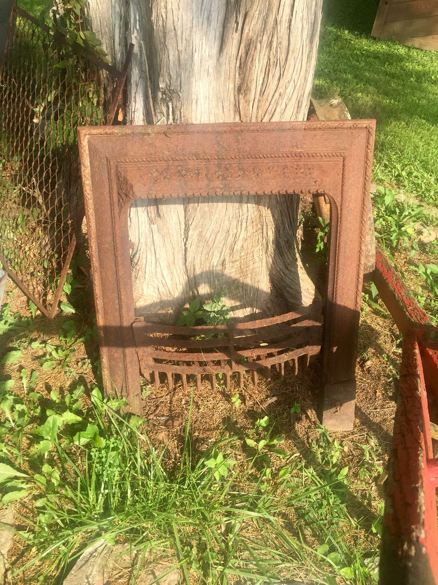Very Old Vintage Fireplace Grate and Insert