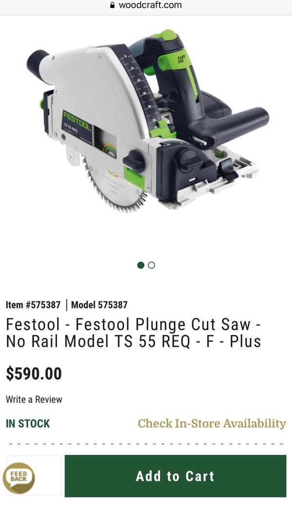 Festool Track Saw Ts 55 Like New No Track For Sale In Gahanna Oh