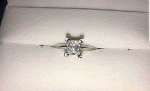 .92 Carat Princess Cut White Gold Diamond Ring Size 7 I2 clarity G color for Sale in Clermont, FL