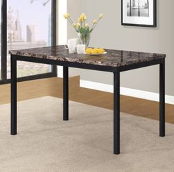 BRAND NEW  Roundhill Noyes Metal 5 Piece Dining Set  with Laminated Faux Marble Top Thumbnail