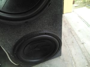 Photo Two 12in Memphis subs one JBL. Still bangs hard