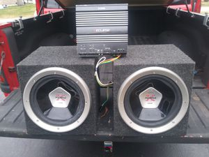 2 12 in Xplod speakers with a eclipse ea2000 amp for Sale in Louisville, KY