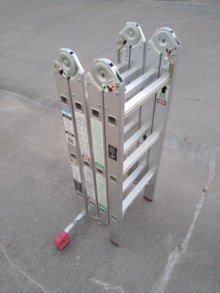 Krause 17 Ft Multiposition Aluminum Ladder Like New
