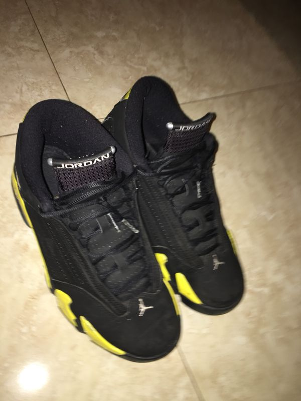 8e6ca2daee96c0 Air Jordan retro 14 Thunder 14 s size 9 for Sale in Greenacres