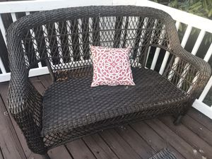 Outdoor furniture loveseat and rattan chair for Sale in Miami Gardens, FL