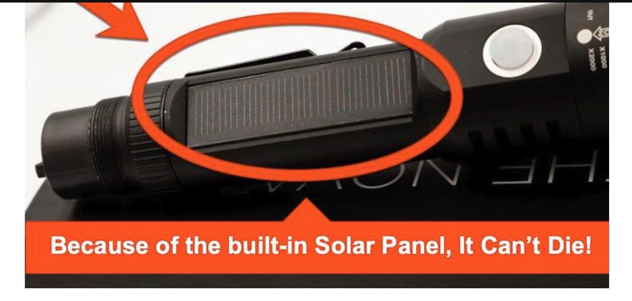 Solar Powered Heavy Duty Flashlight Usb Built In Generator For Phone Charging