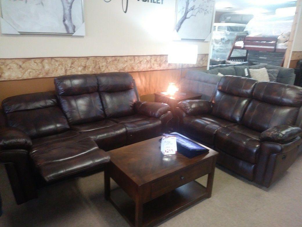 Top grain Power reclining sofa or loveseat