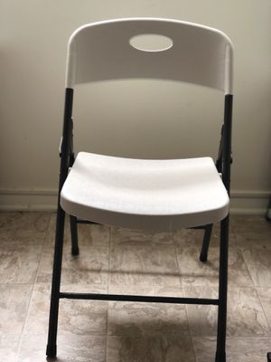 Commercial grade white plastic chairs for Sale in Lynchburg, VA