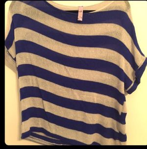 Blue and white striped knit top for Sale in Nashville, TN