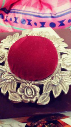 Victorian Sterling pin cusion Thumbnail