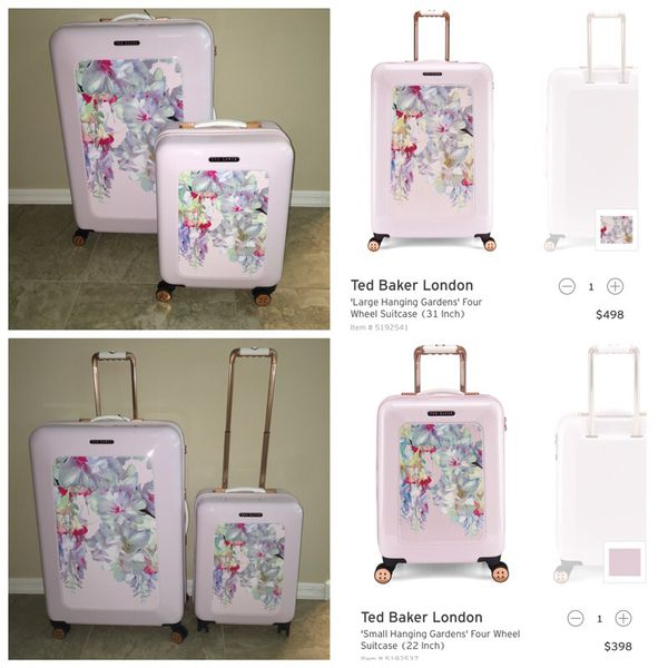 0d8381b3e Ted Baker London Hanging Gardens 2 pc Trolley Luggage Suitcase Set ...