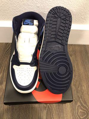 Photo Air Jordan 1 Retro OG High – Size 7.5 UNC Obisdian Deadstock Never Worn Unused
