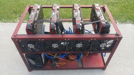 Cryptocurrency mining rig mini rx580 etherium Thumbnail