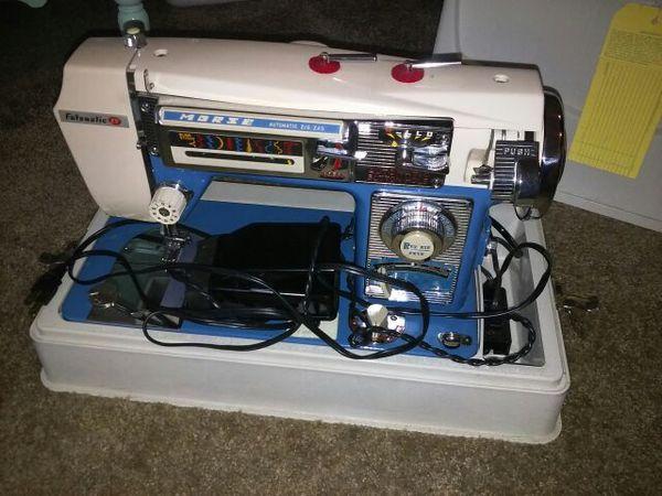 MORSE FOTOMATIC IV 40 Rare BLUE Automatic ZIG ZAG Sewing Machine Classy Morse 4400 Sewing Machine