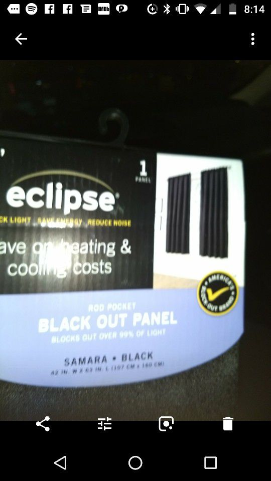 Eclipse black out curtains