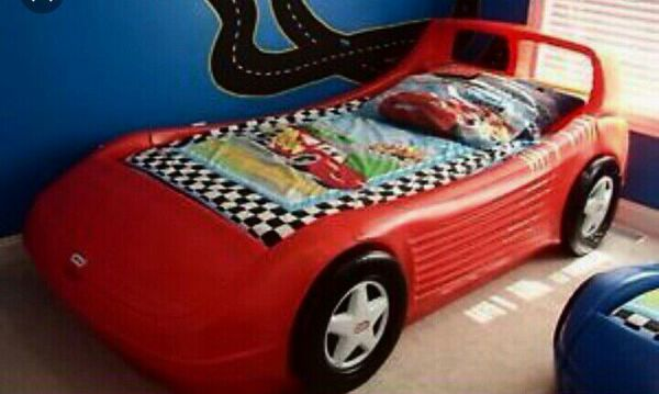 Little Tikes Corvette Race Car Bed Twin Size For Sale In