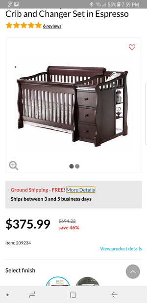 Sorelle Tuscany 4 in one convertible crib for Sale in Washington, DC