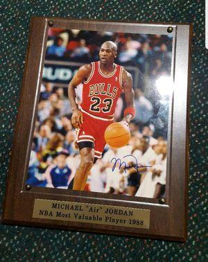Photo Michael Jordan Autographed 8x10 framed picture