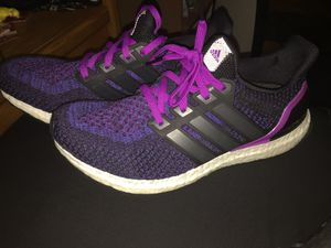 decd38551c67 adidas Ultra Boost 2.0 OG Core Black Shock Purple Women s 9.5 Men s size 8  AQ5935 for