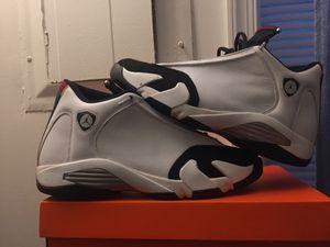 (Sz12 cut tight) Jordan 14 Black toe 100% authentic!(sz 12 cut tight!) for Sale in Severn, MD