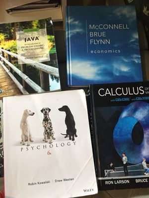calculus of a single variable ron larson bruce edwards , psychology 6e robin kowalski drew westen Wiley, Java an introduction to problem solving Walt for Sale in Fairfax Station, VA